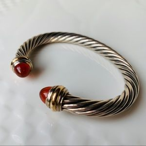 David Yurman Cable Bracelet Carnelian Gold 7mm